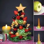 Alberello di Natale con la frutta