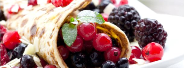Crepes frutti di bosco e ricotta