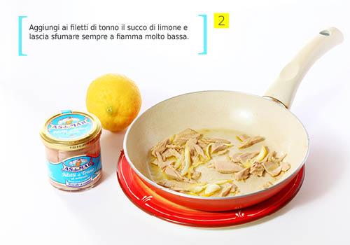 step 2_spaghetti limone tonno