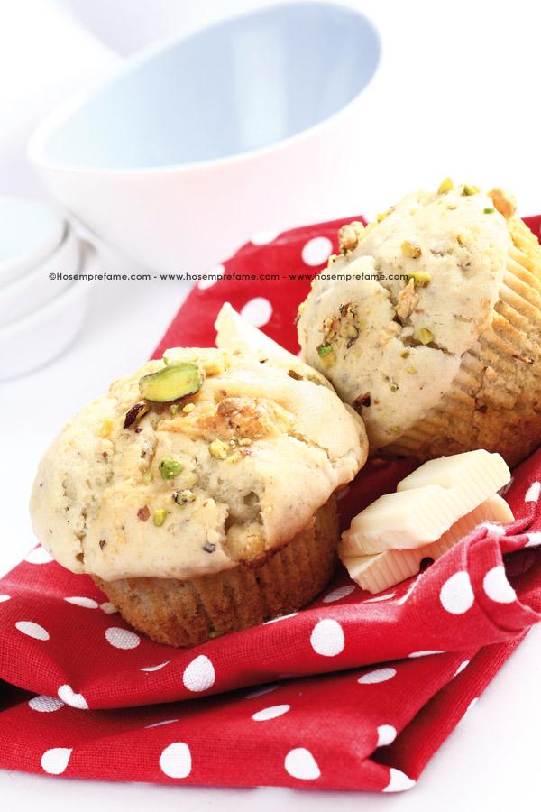 muffin ai pistacchi e cioccolato bianco
